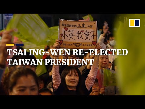 Tsai Ing-wen wins her second term as Taiwan's president with most ever votes