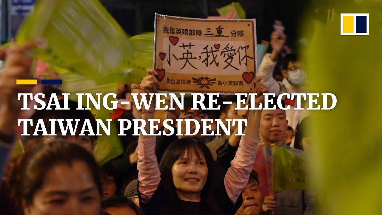 Taiwan's Tsai wins second presidential term