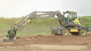 Volvo EWR170E wheeled excavator with short swing radius