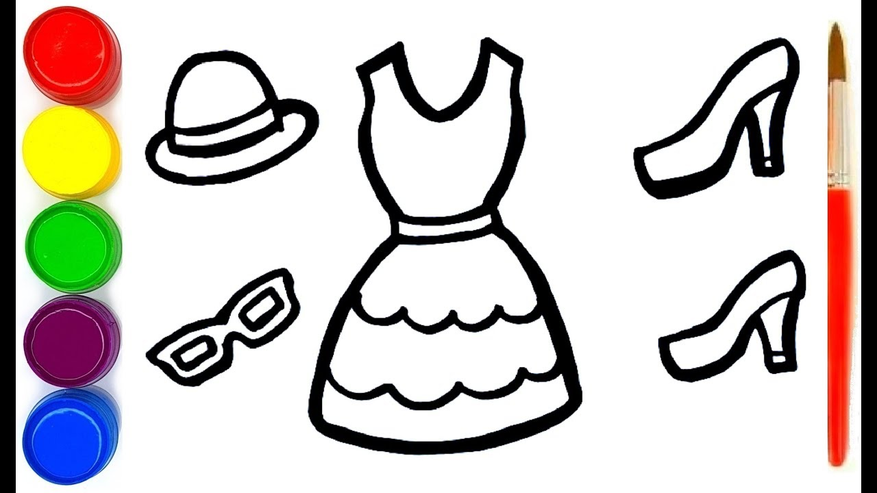 Coloring For Children Princess Dress How To Draw A Princess Dress