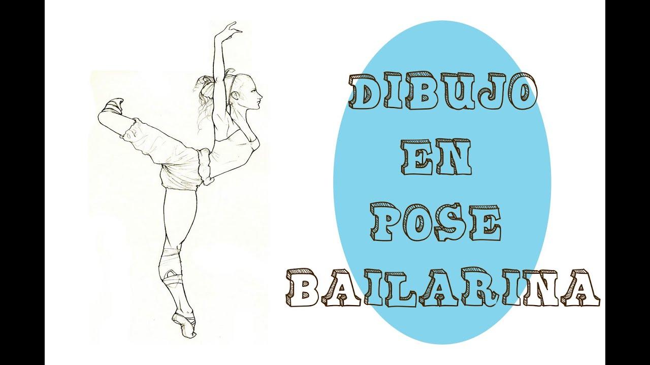 Dibujo En Pose Bailarina