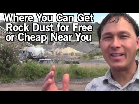 Where You Can Get Rock Dust Free or Cheap Near You