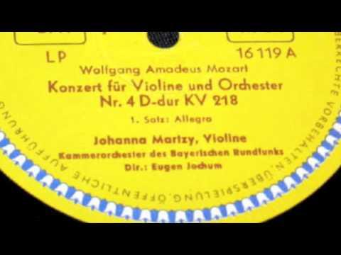 Johanna Martzy, violin Jochum MOZART: Violin Concerto No. 4 in D, KV. 218 1952 part1