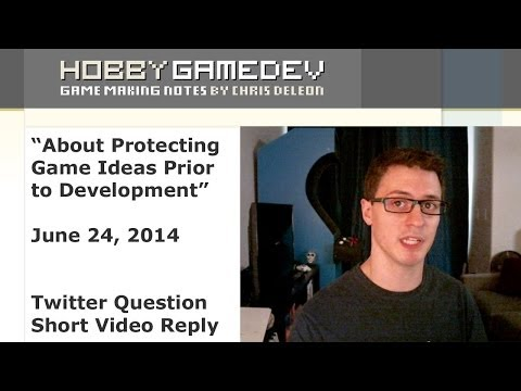 About Protecting Game Ideas Prior to Development