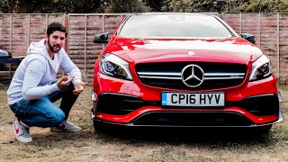 MERCEDES A45 AMG | Interior Exterior Detailed Overview + Exhaust Revs