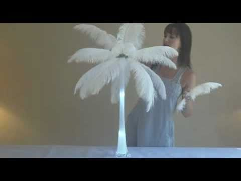How To Make Ostrich Feather Centerpieces Easy Setup Youtube