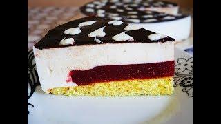 Легкий ТОРТ СУФЛЕ с КЛУБНИЧНЫМ желе внутри ВКУСНЫЙ десерт РЕЦЕПТ простой в приготовлении