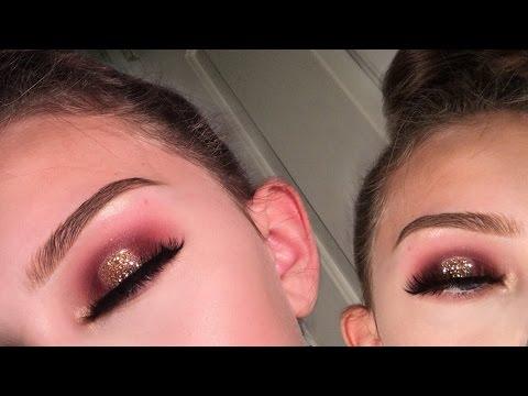 Halo eye with gold glitter | Eyeshadow tutorial