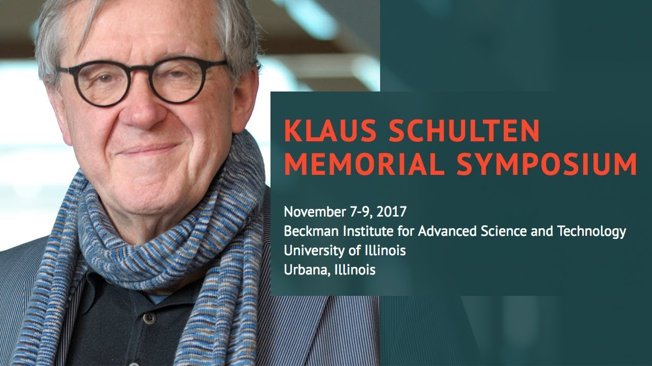 A screenshot from Klaus Schulten Memorial Symposium - Session 1