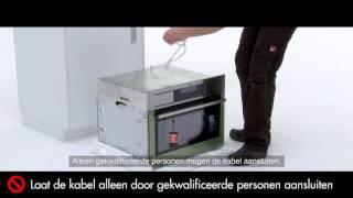 Compacte oven van AEG installeren