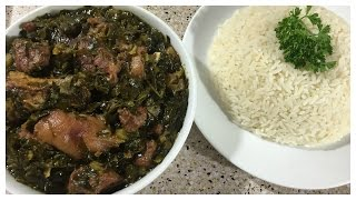 Collard Greens Liberian Style | Thanksgiving | IBeeTheChef