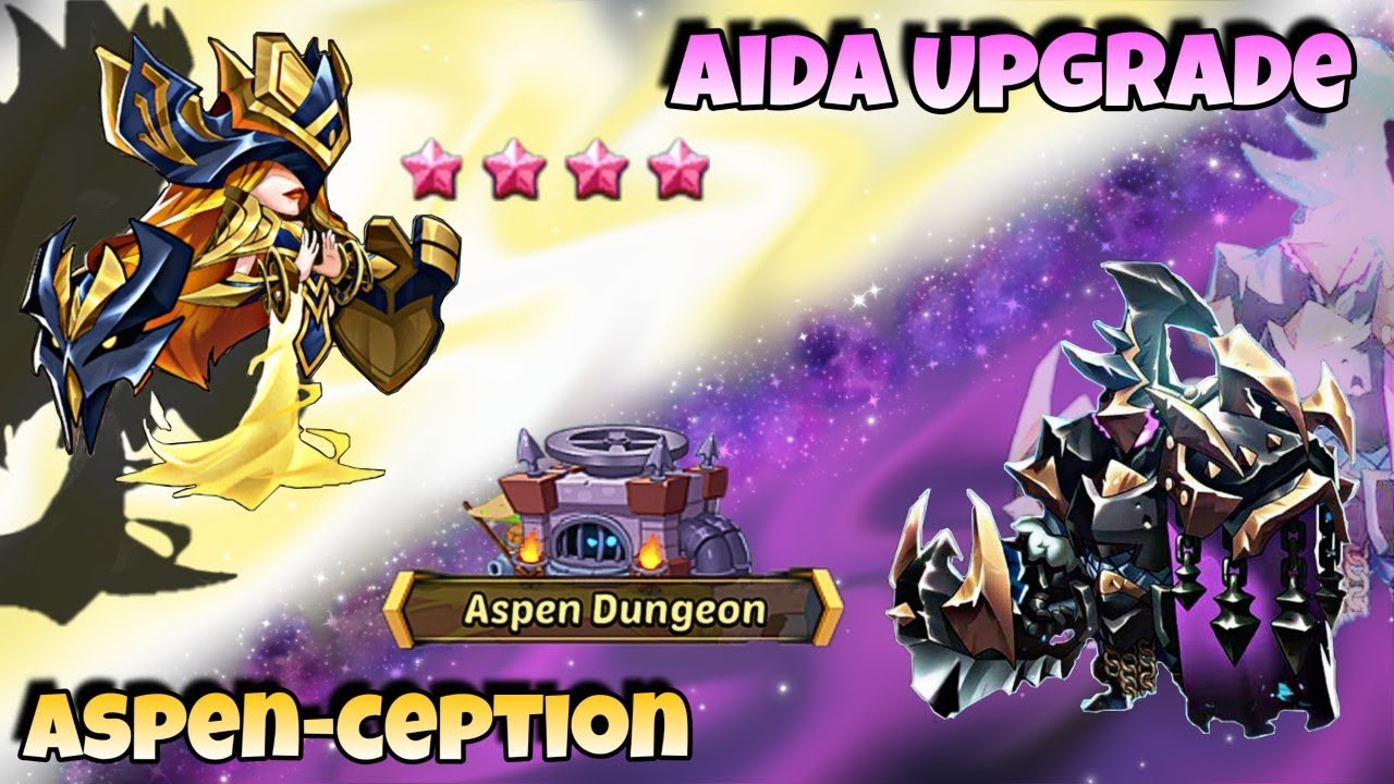 Idle Heroes (O+) - Upgrading Aida to 9 Star! Is She OP? - Aspen in the Aspen Dungeon