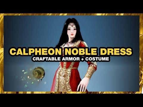 BLACK DESERT ONLINE Calpheon Noble Dress CRAFTABLE COSTUME
