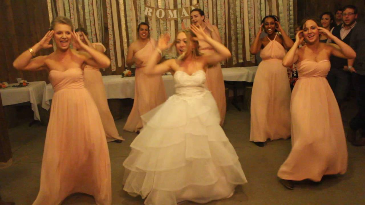 Theme, Bride and bridesmaid flashing
