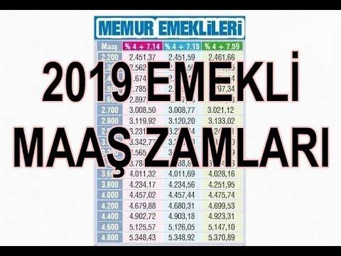 2019 memur ssk bağkur emekli maaş zamları belli oldu