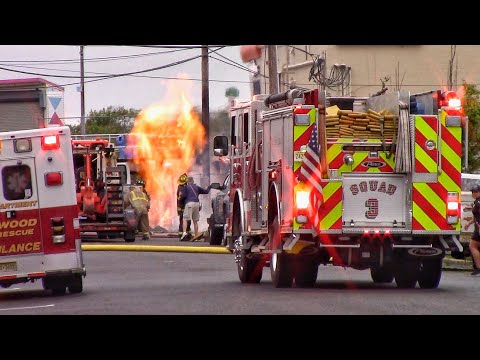 North Wildwood Fire Department Gas Line Fire And Response Videos 5-17-18 Mp3