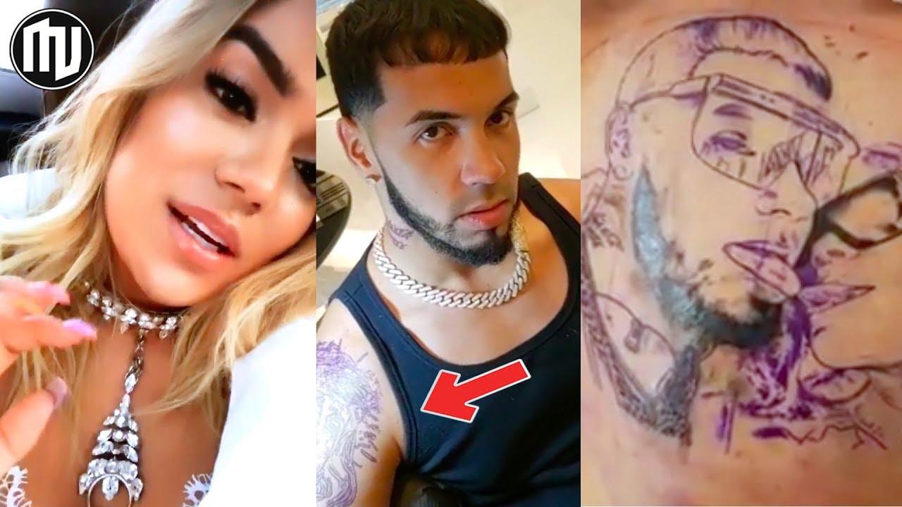 Karol G Reacciona A El Tatuaje Que Se Hizo Anuel De Ella Y El Juntos