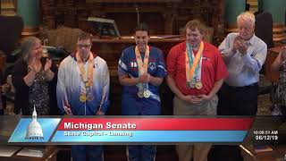 Sen. Daley recognizes Michigan Special Olympians