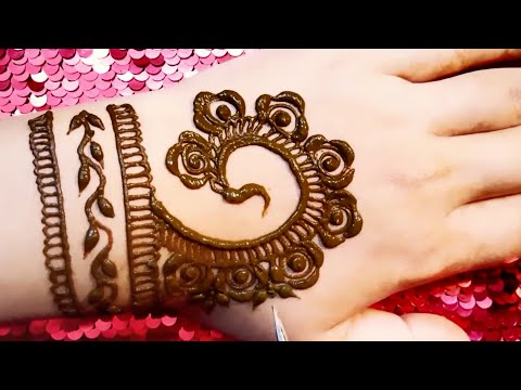 Eid mehndi design tutorial || simple and easy mehndi design tutorial thumbnail