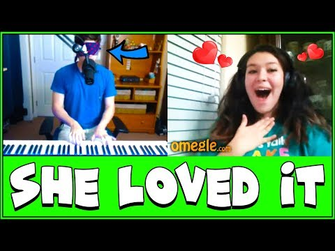 When a Blindfolded Pianist Goes on Omegle!!