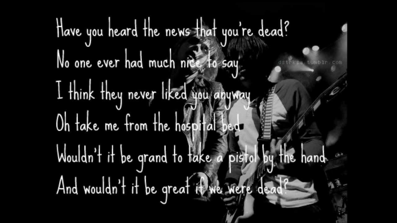 My Chemical Romance-Dead (Lyrics) - YouTube