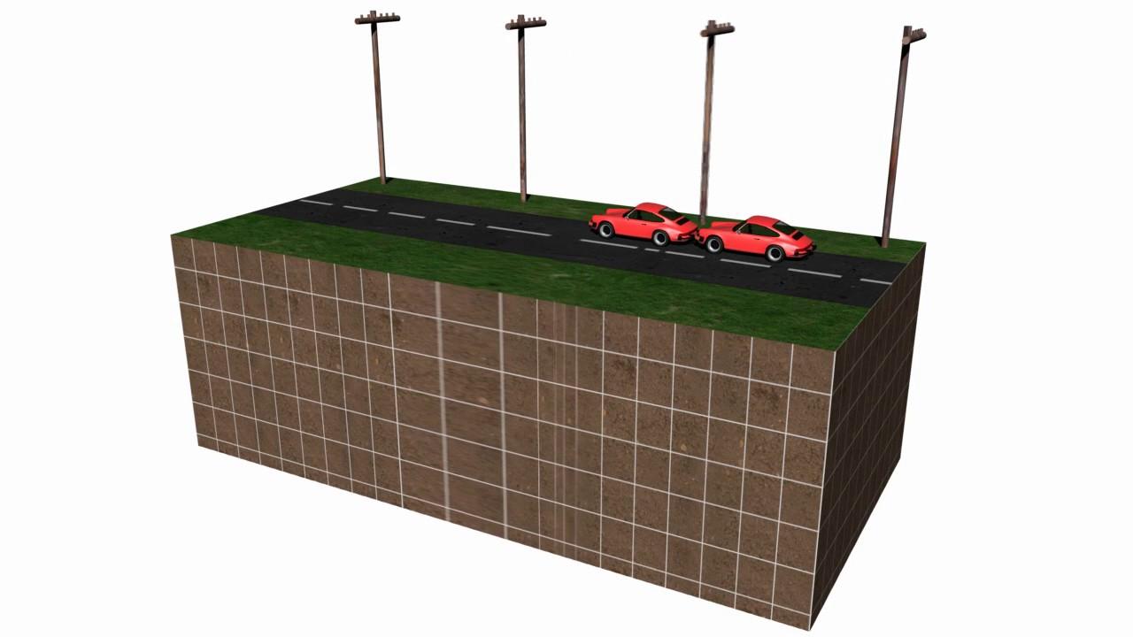 Jordskælv model illustation