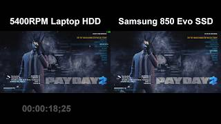 5400RPM HDD vs Samsung Evo 850 SSD (Re-Upload)