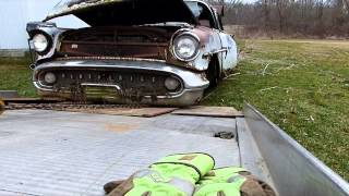 Salvage Recovery of 1957 Oldsmobile Super 88
