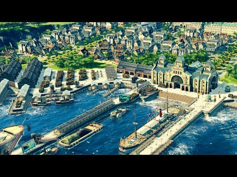 ANNO 1800 | Ep. 2 | Port & Harbor Construction | Anno 1800 City Building Tycoon Sandbox Gameplay