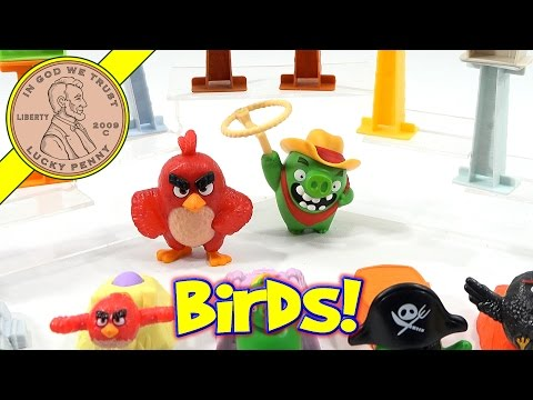 Angry Birds Movie 2016 McDonald's Happy Meal Fast Food Kids Toys