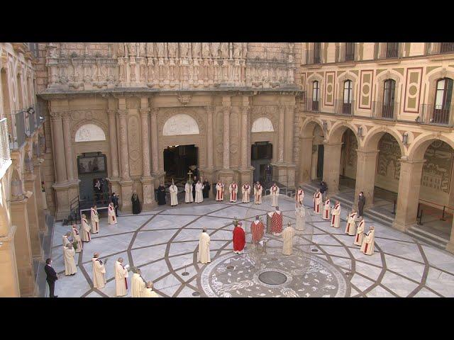 Benedicció dels rams a Montserrat (5 abril 2020)