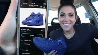 PICKING UP THE JORDAN DEEP ROYAL 12's | Sneaker Vlog