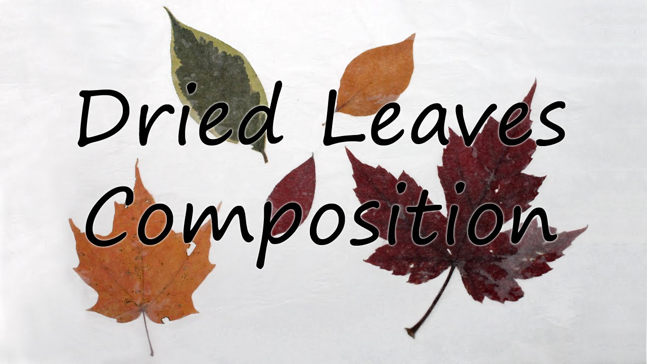 Handicrafts from autumn leaves 71