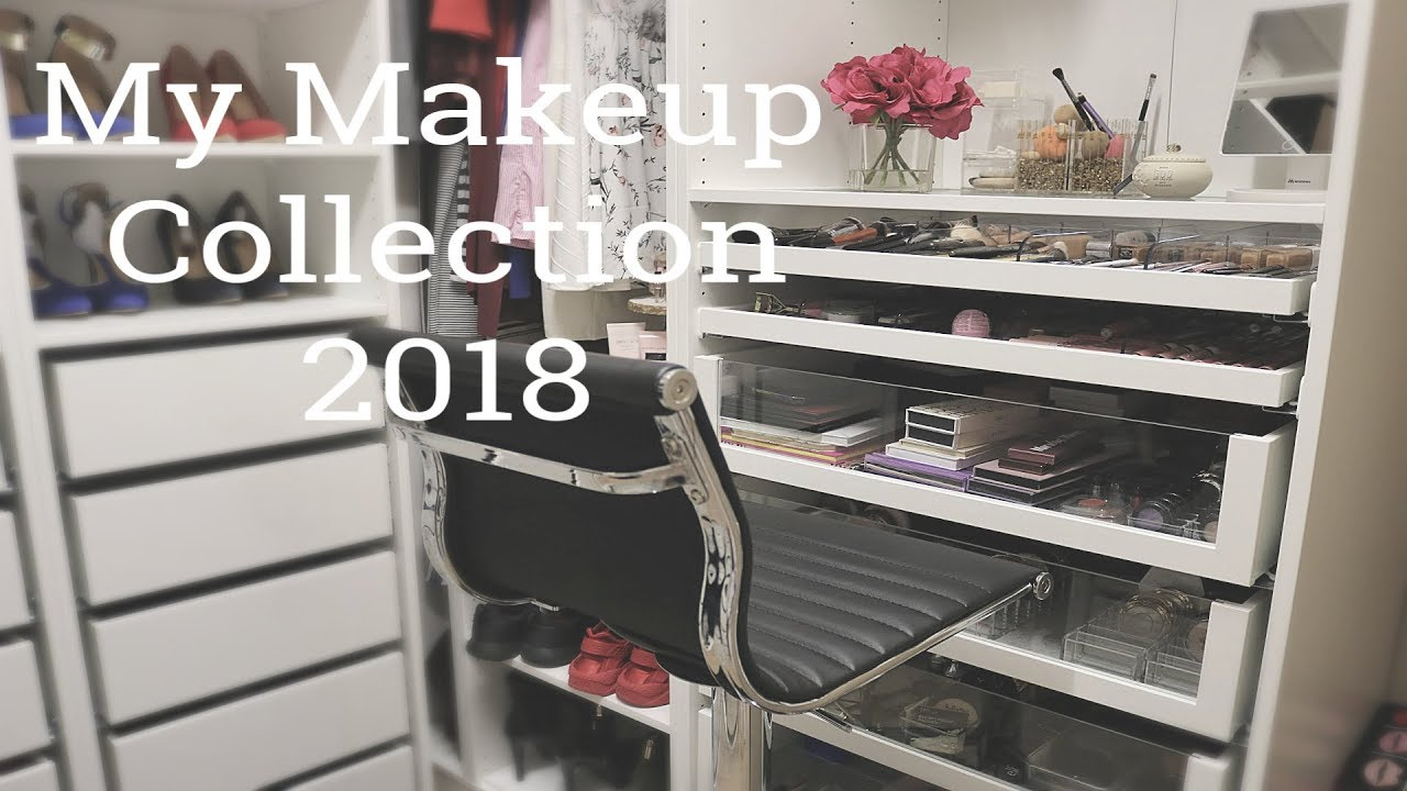 Ikea Pax Click And Collect My Makeup Collection And Organization 2018 Ikea Pax System