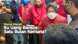 Menteri Risma Marah Besar Dana Bansos Malah Ditahan-tahan di Tuban