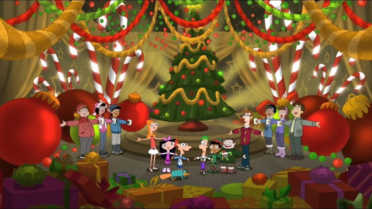 Oh NEW Book Phineas and Ferb Christmas Tree
