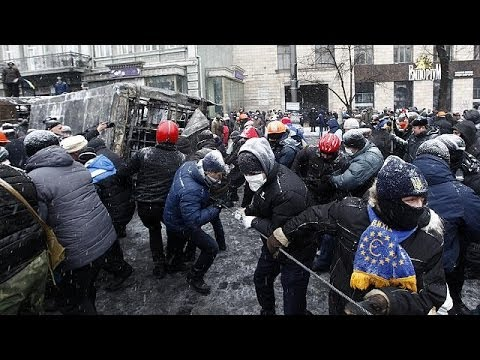 Tension in Ukraine as anti-protest law due to take effect