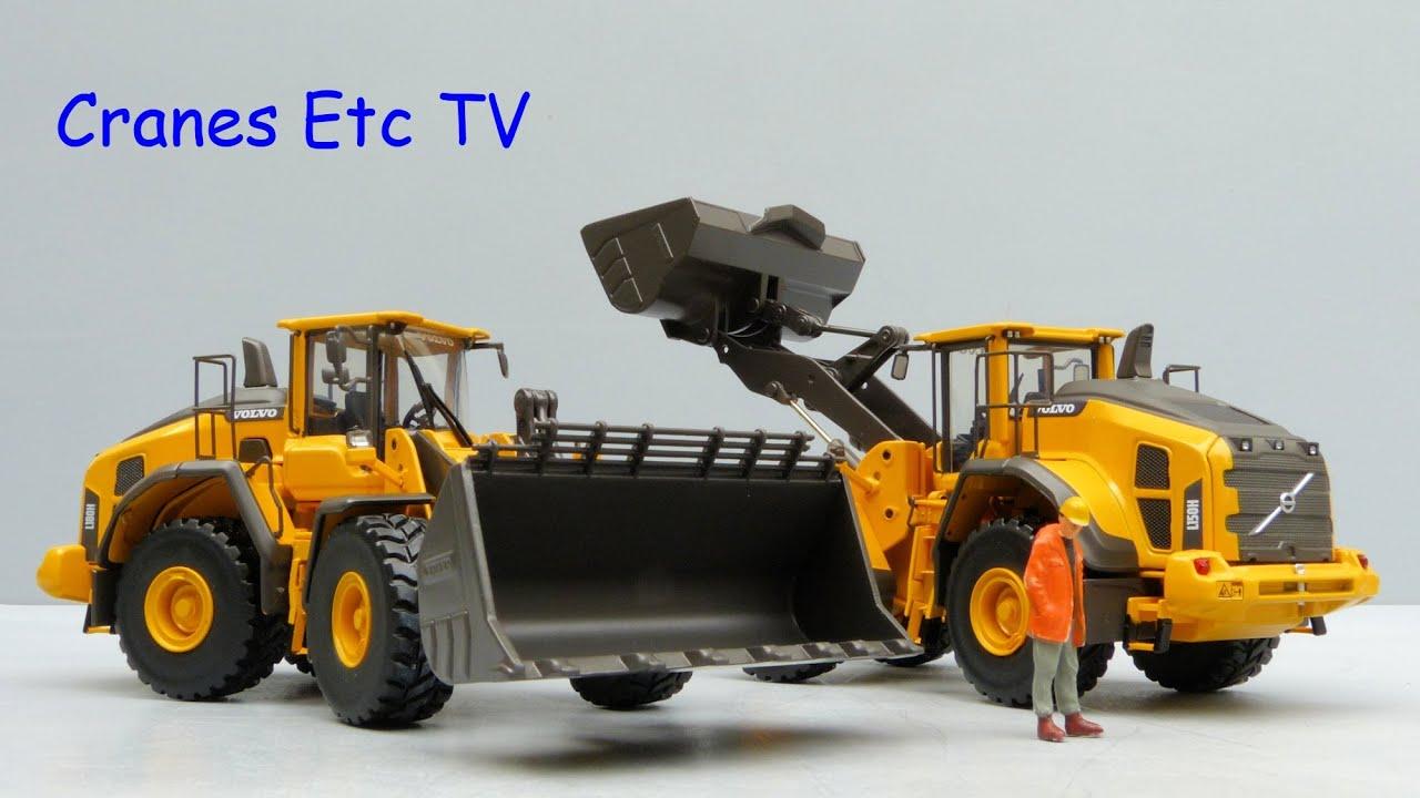 motorart volvo l150h / l180h wheel loaderscranes etc tv - youtube