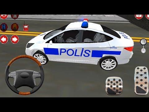 Direksiyonlu Polis Arabasi Cocuklar Icin Polis Arabasi Oyunu
