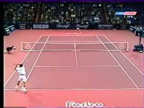 Pete Sampras great shots selection against Wayne Ferreira (Basel 1998 1R)