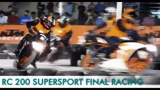 KTM RC 200 SUPERSPORT FINAL RACE || KTM ORANGE DAY RACING COIMBATORE