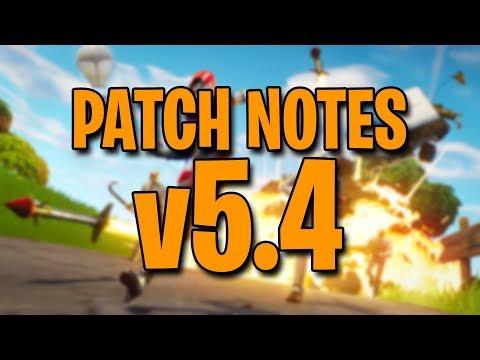 PATCH NOTES V5.4 **O QUE MUDOU??** - Fortnite Battle Royale