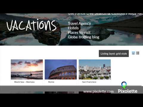 How to create a Travel Agency WordPress page with Live Search and Custom Fields plugin