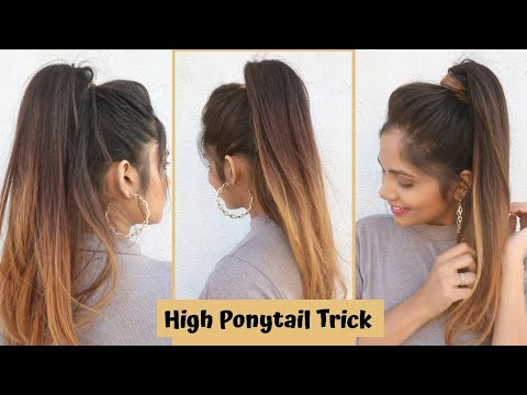 high-ponytail-hack-/trick-to-get-high-ponytail-/easy-ponytail-hairstyle