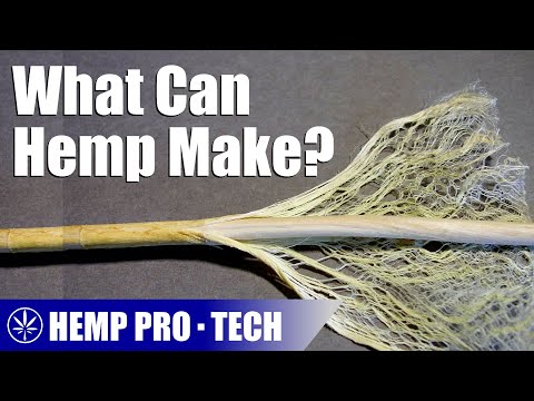 The Products That Can Be Made From a Hemp Plant