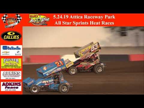 5.24.19 Attica Raceway Park All Star Sprints Heat Races