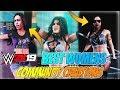 TOP 10 BEST WOMEN CREATED WRESTLERS IN WWE 2K19 - COMMUNITY CREATIONS