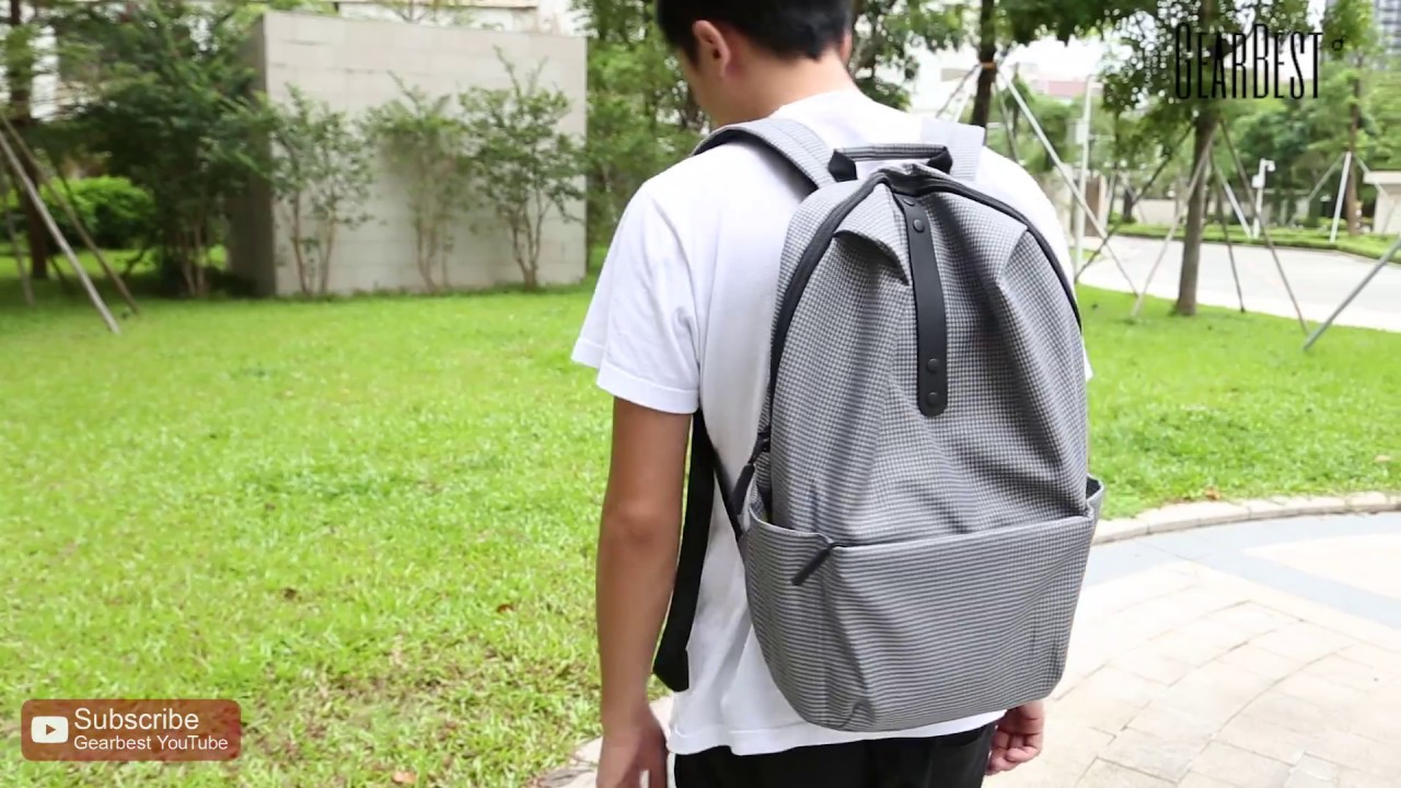 26025c4f6517 Xiaomi 20L Leisure Backpack - Gearbest.com - YouTube