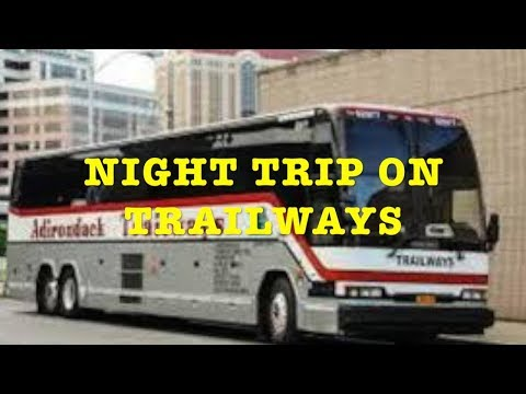 Trailways Bus Experience: Night Trip From Albany, NY to Port Authority Bus Terminal
