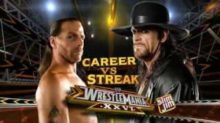 WWE Wrestlemania 26 - Shawn Michaels vs Undertaker - Matchcard (HQ)